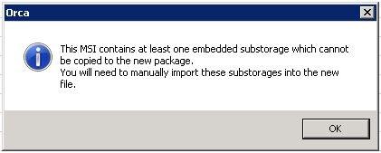 Jabber for Windows MSI Transformation failing via MS Orca