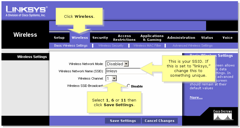 set up the wireless settings on a cisco small business voip router rh cisco com Apple Computer Set Up Home Wireless Diagram Cisco Router Diagram