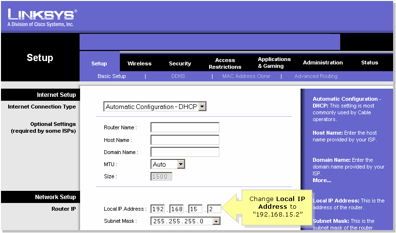 Linksys Ip Address >> Cascade Connect A Cisco Small Business Router To A Voip Router Cisco