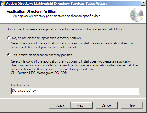 Directory partition software