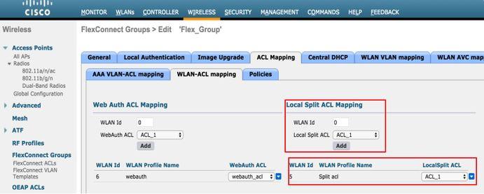 Configure Flexconnect ACL's on WLC - Cisco