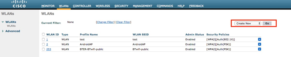 Dynamic VLAN Assignment with WLCs based on ISE to Active