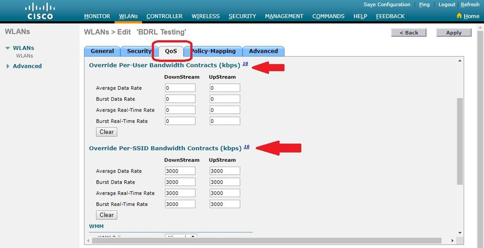 Wireless Bi-Directional Rate Limiting Deployment Guide - Cisco
