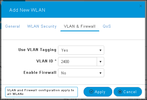 802 1x WLAN + VLAN override with Mobility Express (ME) 8 2