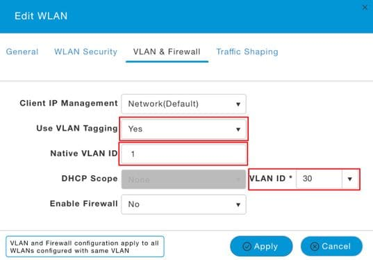 Configure Flexconnect VLAN Mappings on Mobility Express