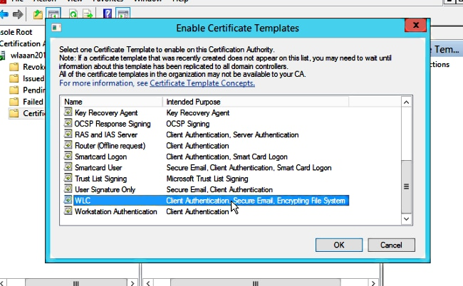 Locally Significant Certificates (LSC) with WLC and Windows Server