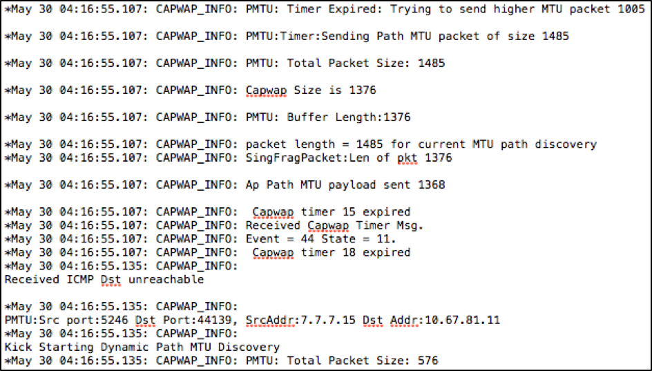 Configure CAPWAP Path MTU Discovery - Cisco