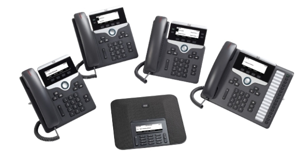 Product Image of Cisco IP Phone 7800 Series with Multiplatform Firmware