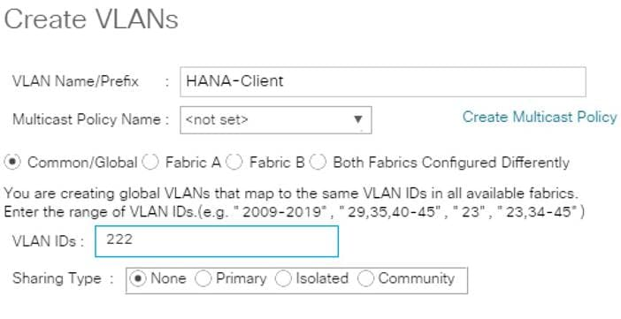 Cisco UCS Integrated Infrastructure for SAP HANA - Cisco