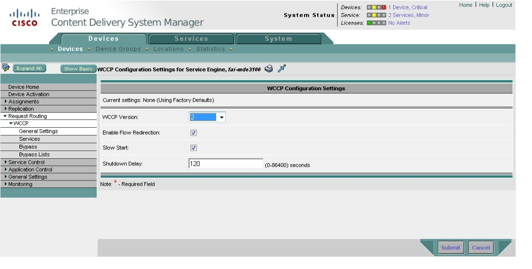 Cisco ECDS 2 5 Software Configuration Guide - Configuring