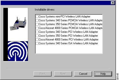Cisco systems 350 series pci wireless lan adapter