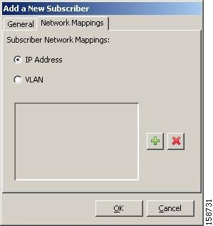 Add New Subscriber Network Mappings Tab