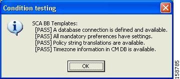 Condition Testing Dialog Box