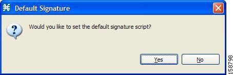 Default Signature message