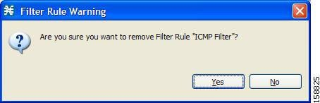 Filter Rule Warning message