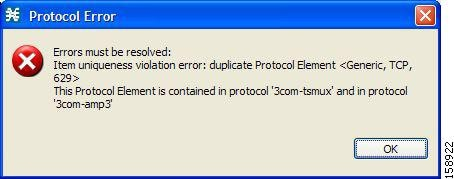Protocol Error message