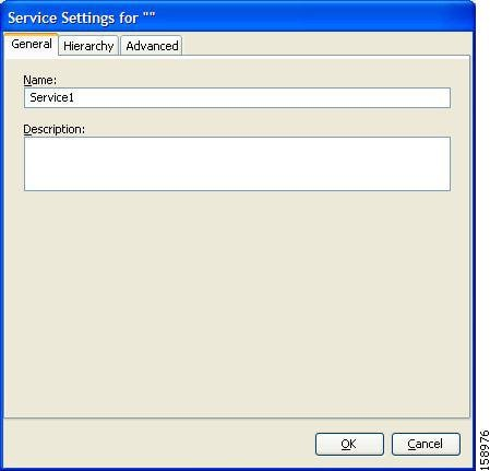 Service Settings dialog box