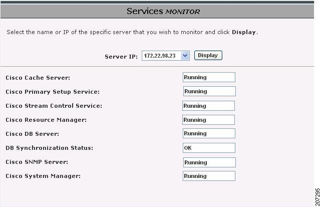 Cisco VDS-VR Software 4 1 Configuration Guide - System Monitoring