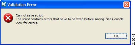 Validation Error message