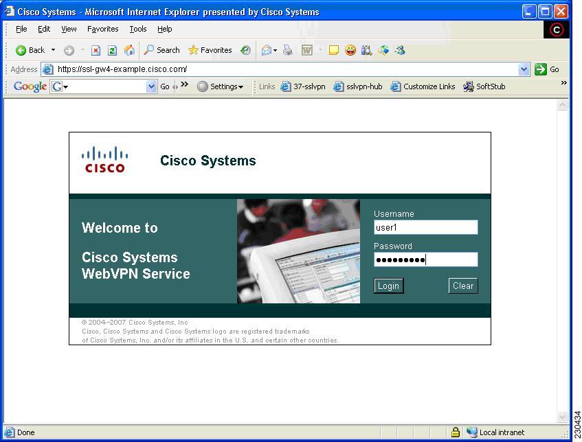 SSL VPN Configuration Guide, Cisco IOS Release 12.4T - SSL ...