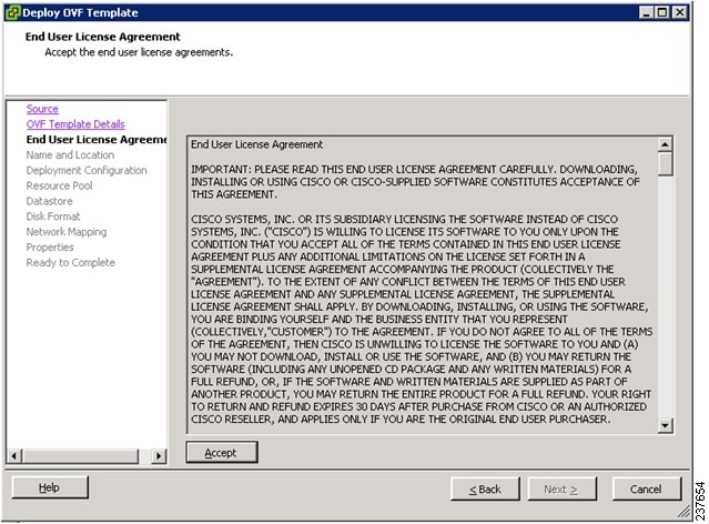 Cisco Virtual Security Gateway Release 421VSG11 and Cisco – End User License Agreement Template