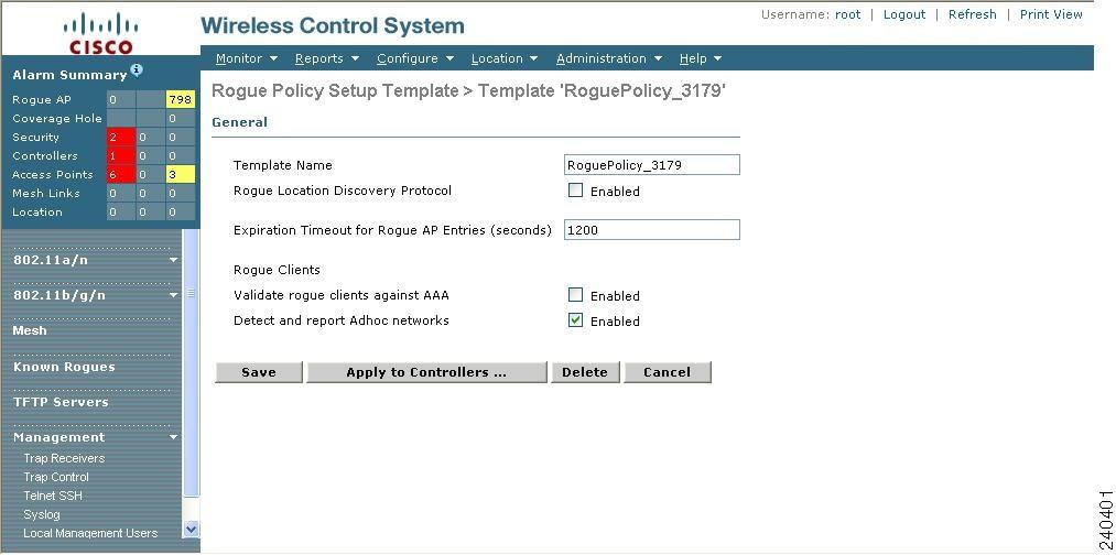 figure 10 30 rogue policy setup template