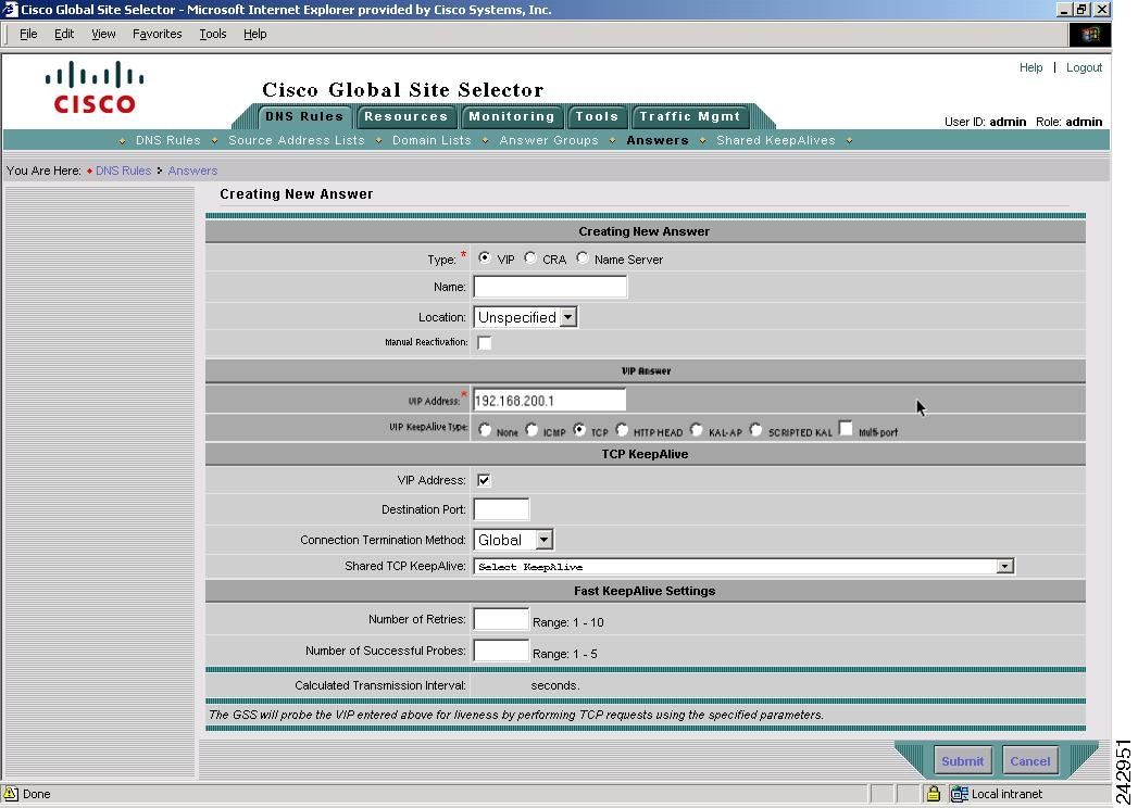 Cisco GSS GUI-Based Global Server Load-Balancing Configuration Guide