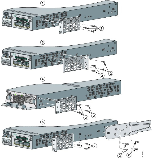 rack mount switch with rear ports