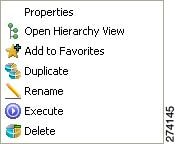 Duplicate Existing Report Popup Menu