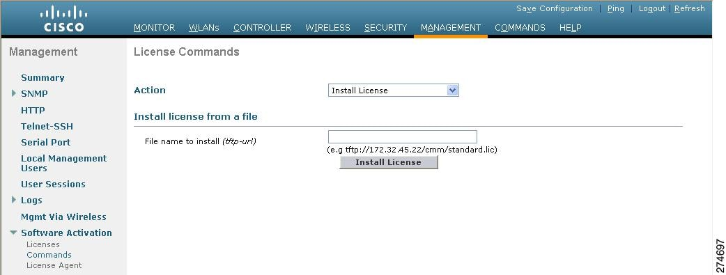 Cisco wlc 2504 license install