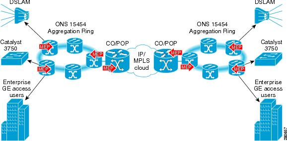 Network With Ip/mpls Core