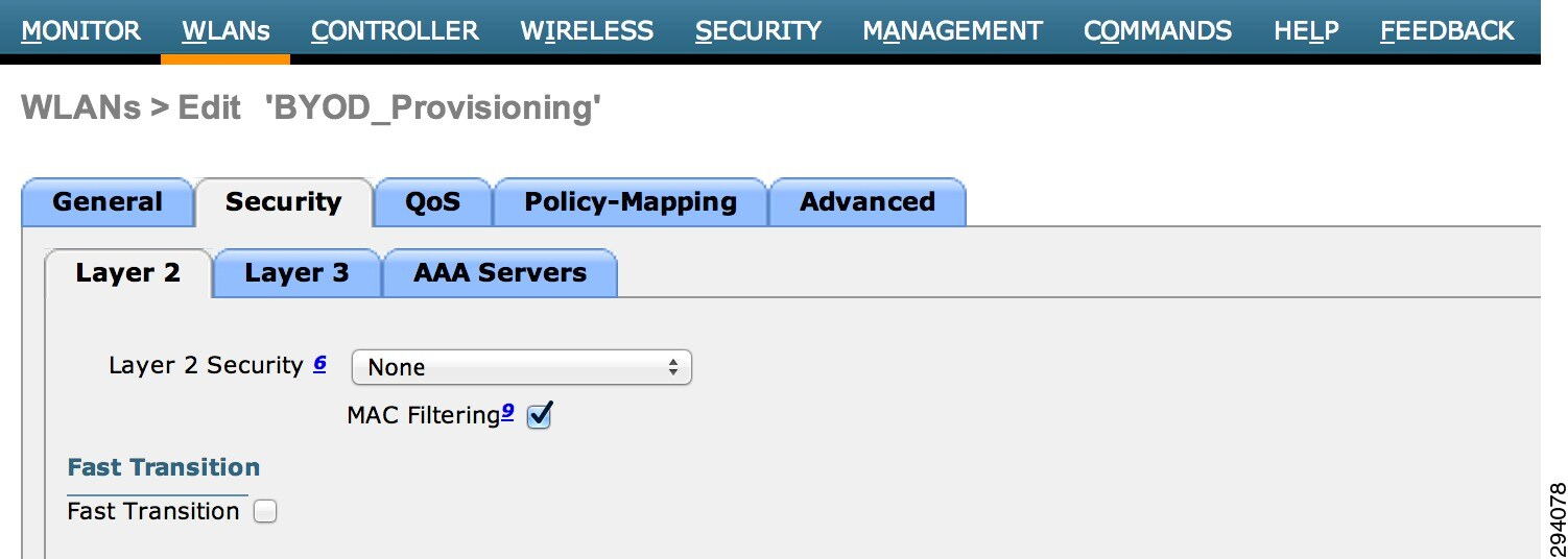 Cisco Unified Access Ua And Bring Your Own Device Byod Cvd Wireless Campus Network Diagram Figure 9 3 Layer 2 Security Settings