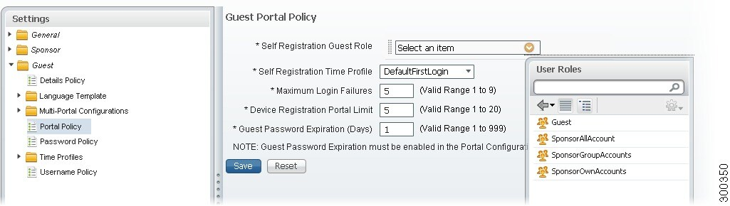 Cisco identity services engine user guide release 11x user figure 21 4 guest portal policy page maxwellsz
