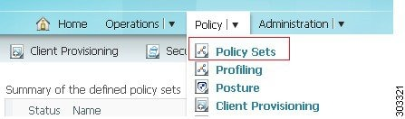 If you enable policy set mode, you can group authentication and authorization policies within the same group.