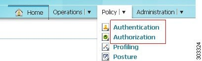 In simple policy mode, you can define authentication and authorization policies separately in the Policy Menu.