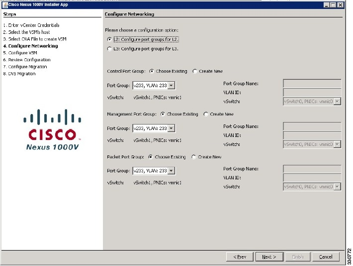 Configure Networking Screen