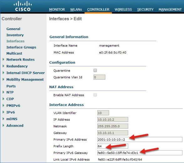 Cisco Wireless Lan Controller Ipv6 Deployment Guide Cuwn Release 8 0 Cisco