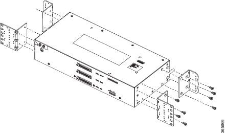 cisco ncs 4206 hardware installation guide installing the cisco figure 27 patch panel system side interface view brackets and guides