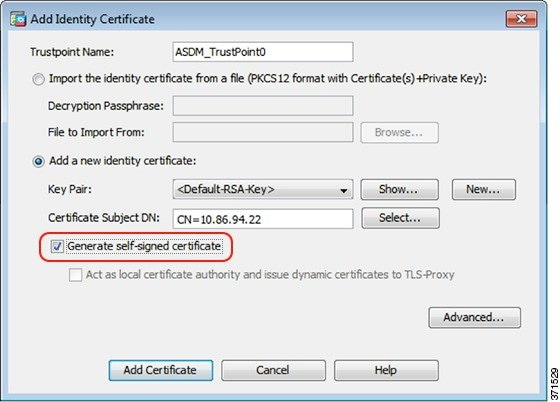 Install an Identity Certificate for ASDM - Cisco