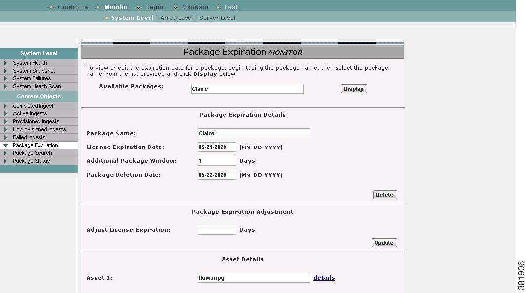 Cisco TV VDS 3 5 ISA Configuration Guide - System Monitor