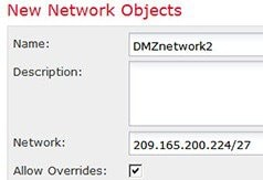 Network object defining the DMZ network 2 address.