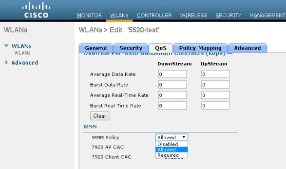 Enterprise Mobility 8 1 Design Guide - Cisco Unified Wireless QoS