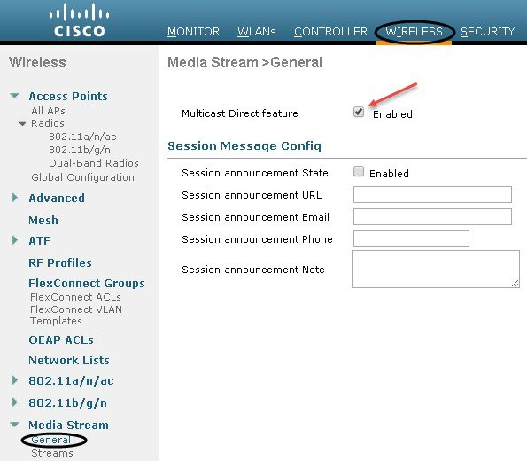 Cisco Unified Wireless Network Solution: VideoStream Deployment