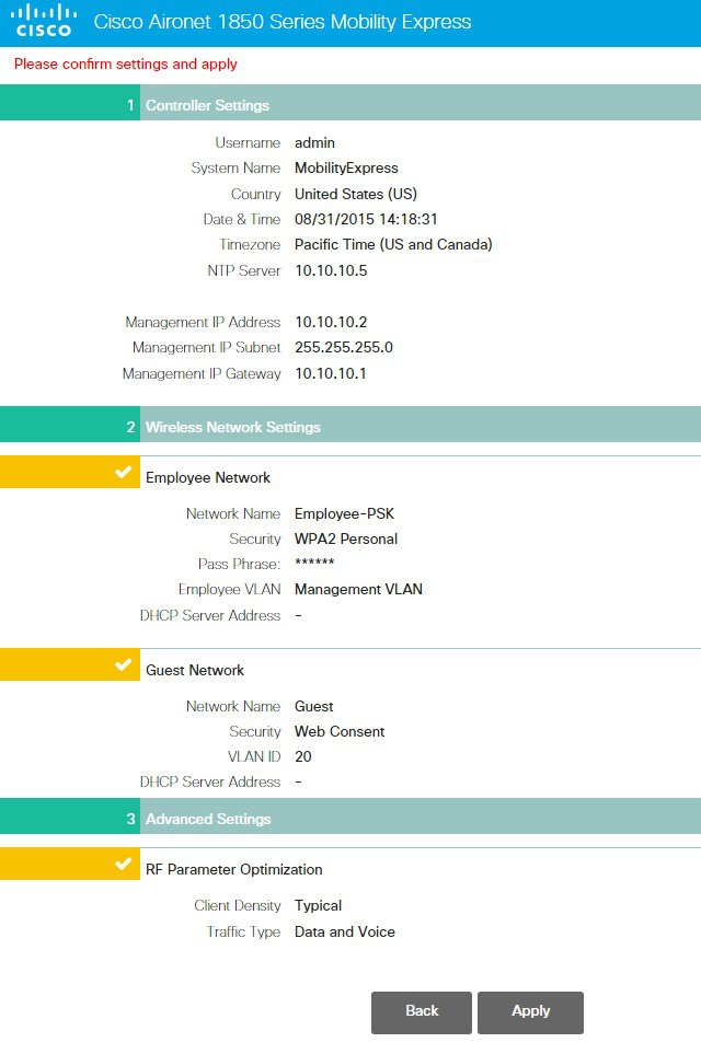 Cisco Mobility Express Deployment Guide - Deploying Mobility