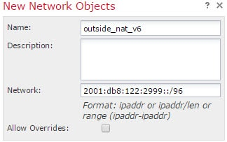 NAT66 outside_nat_v6 network object.