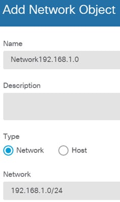 Network192.168.1.0 object.