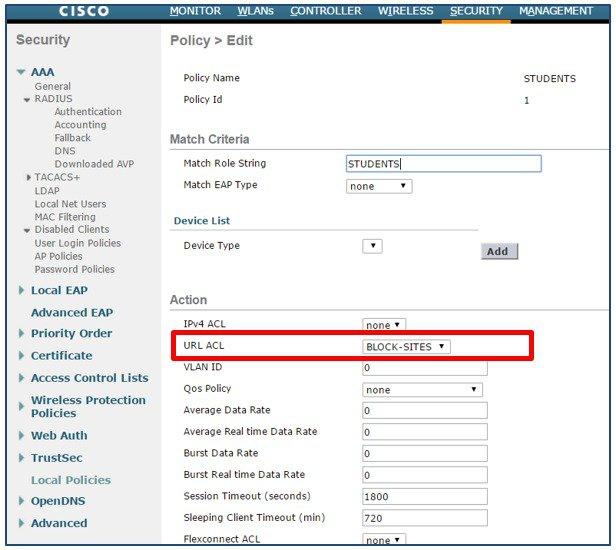 URL ACL (Enhanced) Deployment Guide - Cisco