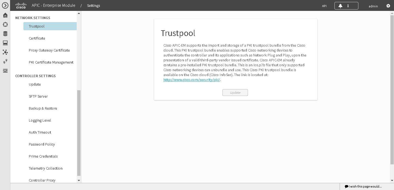 Cisco Application Policy Infrastructure Controller Enterprise Module