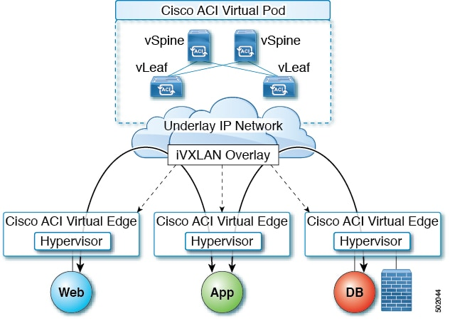 Image showing Cisco ACI vPod and its components.