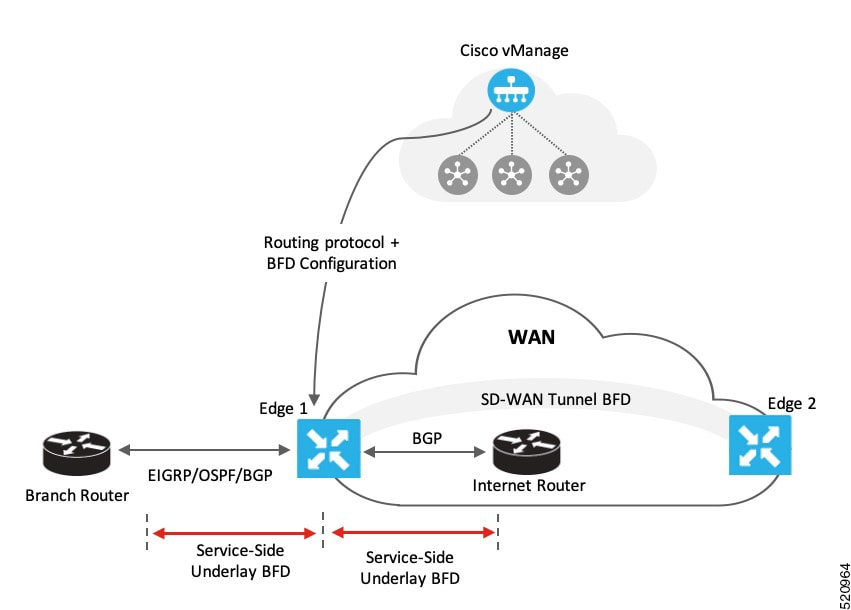 Routing Configuration Guide Cisco Ios Xe Release 17 X Bfd For Routing Protocols In Cisco Sd Wan Cisco Sd Wan Cisco